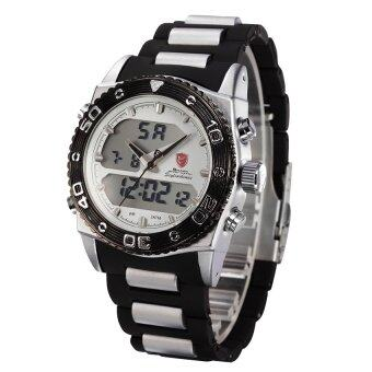 ราคา Shark นาฬิกาข้อมือแฟชั่น 2 ระบบ ดิจิตอล-อนาล็อก CAT SHARK สายข้อมือยางแนวใหม่ ไฟ LED เวลา-วัน-วันที่ SH177