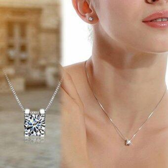 Silver plated Symbol Love Clavicle Pendant Necklace Valentine's Day Gift - intl