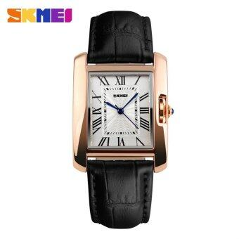 SKMEI 1085 Women's Fashion Luxury Retro Quartz Watches Analog Display Waterproof Women Casual Dress Wrist Watch - Black - intl