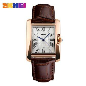 SKMEI 1085 Women's Fashion Luxury Retro Quartz Watches Analog Display Waterproof Women Casual Dress Wrist Watch - Brown - intl