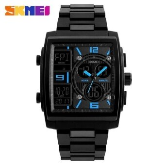 SKMEI 1274 Men's Electronic Watch Multi-function Outdoor Sports Electronic Watches Blue - intl