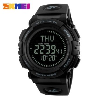 SKMEI 1290 Men's Fashion Multi-function Watch Outdoor Sports Compass Watch Gray - intl