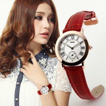 สำหรับผู้หญิงยี่ห้อ SKMEI แท้หนังสายแฟชั่นย้อนยุคธุรกิจนาฬิกาควอตซ์ - นานาชาติ