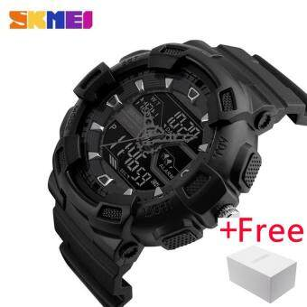 SKMEI Men Dual Display WristWatch นาฬิกาข้อมือ es Outdoor Quartz Sports Watch นาฬิกาข้อมือ es Fashion Casual Multifunction 50M Waterproof Watch นาฬิกาข้อมือ Boy 1189