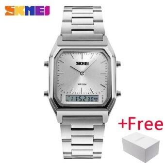SKMEI Men Fashion Casual Quartz WristWatch นาฬิกาข้อมือ es Digital Dual Time Sport Watch นาฬิกา