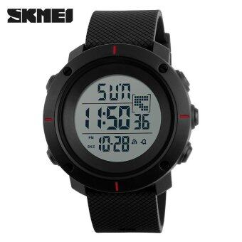 SKMEI Men Sports Watches Military 50M Waterproof LED Digital WatchClock Men Fashion Outdoor Wristwatches - Red - intl