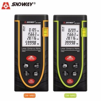 Sndway SW-M40 Laser Distance Meter Digital Electronic Handheld 40MPrecision Rangefinder Tape Measure Portable Area/volume Tools -intl