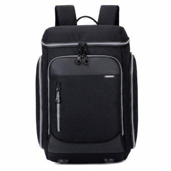 Socko กระเป๋าเป้ Notebook / Laptop ผ้ากันน้ำ รองรับได้ถึง 15.6 นิ้ว(ดำ)(Black)