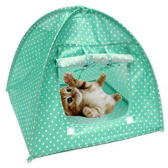 Soft Outdoor Foldable Kennel Pet Kitten Cat Bed Camp Tent Puppy Dog Play House (image 1)