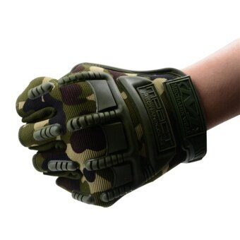 Summer Half-finger Breathable Gloves Riding Equipment MotorcycleAnti-skid Gloves Tactical Gloves Camouflage - intl