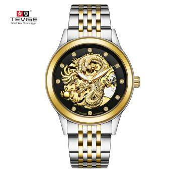 TEVISE Dragon Dial Luxury Men Mechanical Watch Business Top BrandMens Male Famous Watches Gift For Men - intl
