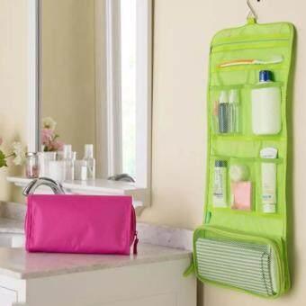 Tiger lucky กระเป๋าจัดระเบียบอุปกรณ์อาบน้ำและเครื่องสำอาง - สีเขียว1pcs
