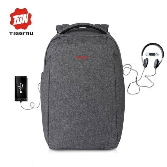 Tigernu External Charging USB Anti-theft Laptop Backpack 15.6inchWomen Men Splashproof Bag - intl