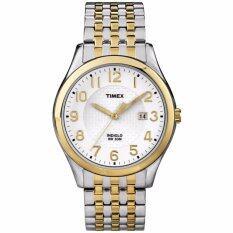 Timex นาฬิกาข้อมือผู้ชาย รุ่น T2P202 - Silver/Gold