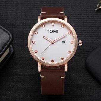 ราคา TOMI นาฬิกาข้อมือ Quartz Analog รุ่น T004 สายสีน้ำตาล หน้าปัดทองคำสีกุหลาบ (Brunette/Rose Gold)