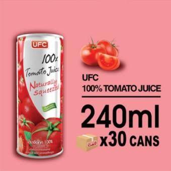 UFC 100% Tomato Juice ยูเอฟซี น้ำมะเขือเทศ 100% 240 มิลลิลิตร X 30กระป๋อง