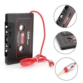 Universal Black Audio Car Cassette Tape Adapter Transmitters Converter FOR MP3 CD MD DVD For Clear Sound Music - intl