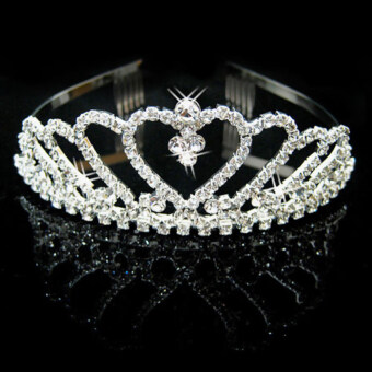 VAKIND Diamante Rhinestone Crown