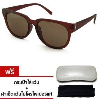 VINTEGE GLASSES Newstyle Glasses แว่นกันแดดทรงวินเทจ รุ่น PF-111 (Brown)