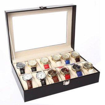 ราคา watch box กล่องใส่นาฬิกา12 ช่อง