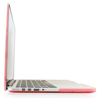Welink 3ใน1 ด้าน Apple MacBook Pro 33.02ซม Retinaเคส/นิ่ม-แข็งพลาสติกฝาเคส Touch+ป้องกันฝุ่นปลั๊ก+แป้นพิมพ์ปกสำหรับMacbook Pro 33.02ซมกับ Retina [รุ่น: A1425/A1502] (สีชมพู) - 4