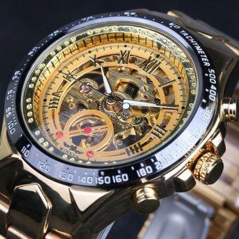 Winner Brand New Fashion Gold Watch Stylish Steel Men Male ClockClassic Mechanical Self Wind Wrist Dress