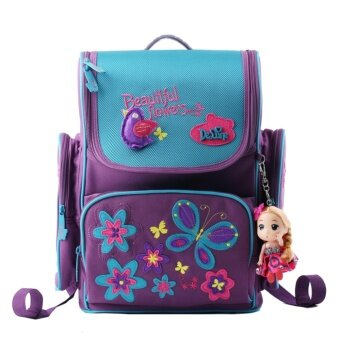 Wolf Who Girl Backpack Free Doll School Bag for Children Travel Bag- intl