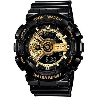 Wonderful story S SPORT นาฬิกาข้อมือ ใส่ได้ทั้งชายและหญิงกันน้ำได้-SP024 (BLACK/GOLD)