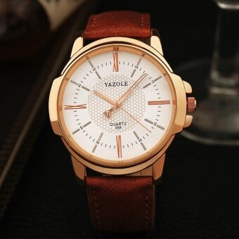 Harga YAZOLE Men Business Fashion Quartz Watches 358 White Brown - intl