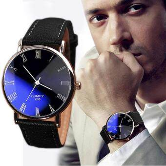 YBC Men Luxury Fashion Waterproof Leather Quartz Manual Watches -intl