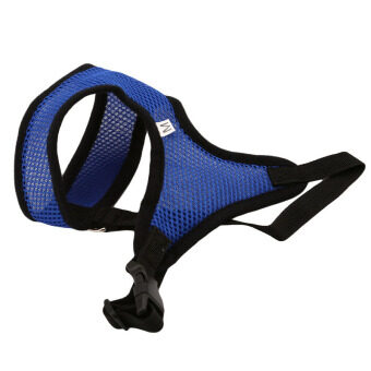 YingWei Pet Puppy Dog Fashion Safety Adjustable Harness EasyControl Mesh Vest Leash Chest Straps Belt Blue & S - 3