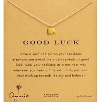 YingWei Tiny Elegant Small Lucky Elephant Cute Clavicle Short Necklace Present Golden