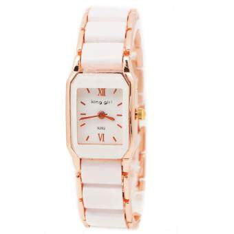 Zazzy Dolls นาฬิกาข้อมือผู้หญิง หน้าปัดดีไซน์น่ารัก สไตล์เกาหลี สายAlloyสีขาว รุ่น ZD-0065 สีขาว (White)